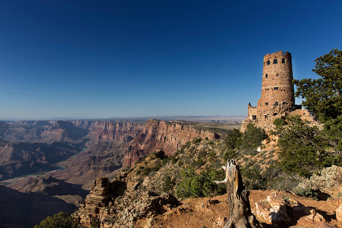 Grand canyon watch tower.