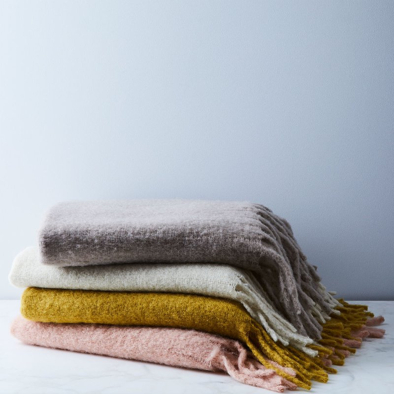 Simple Mohair Throw. Hawkins New York.