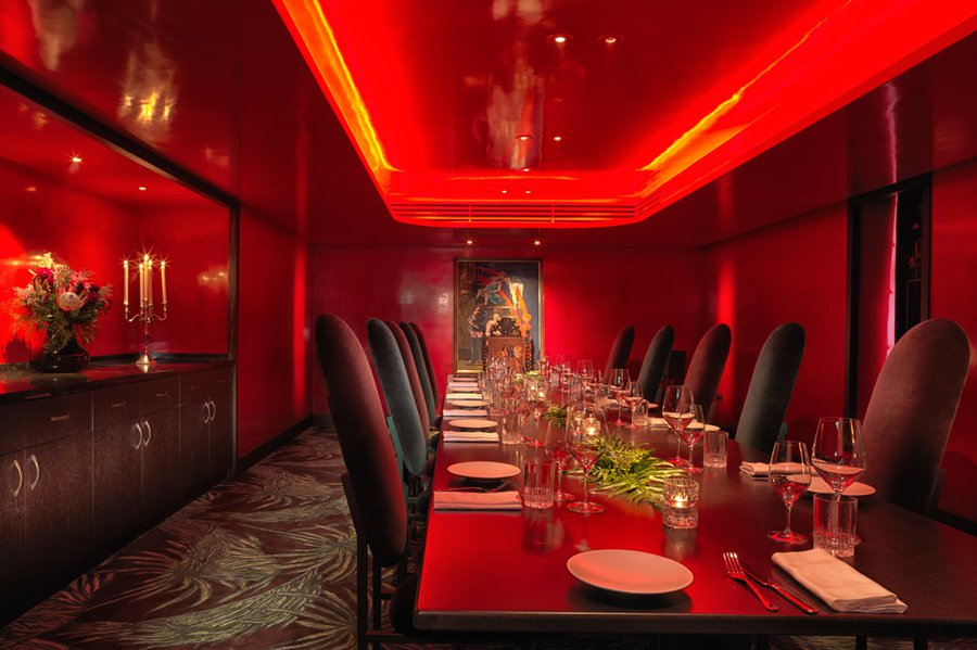 Private dining room at Serge et le Phoque.