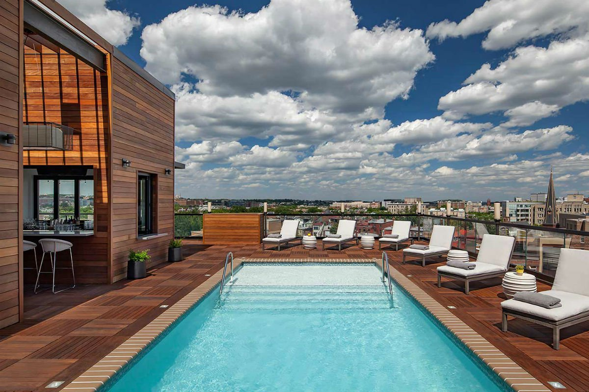 Rooftop pool, Mason Rook, Washington D.C.