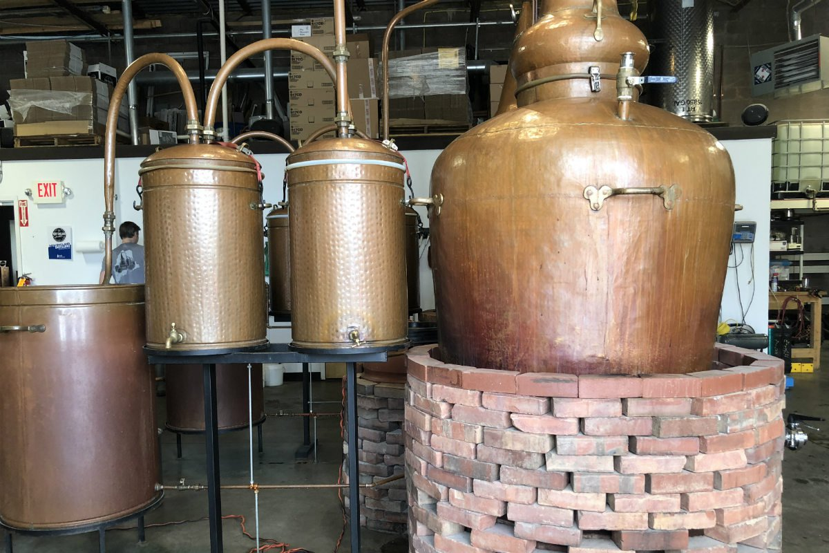 New England Distillery, Portland, Maine.