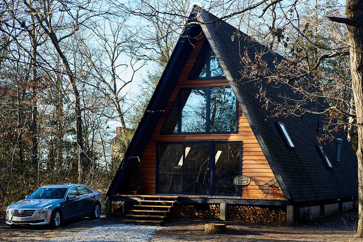 stay at the cutest little cabin in the woods of new jersey