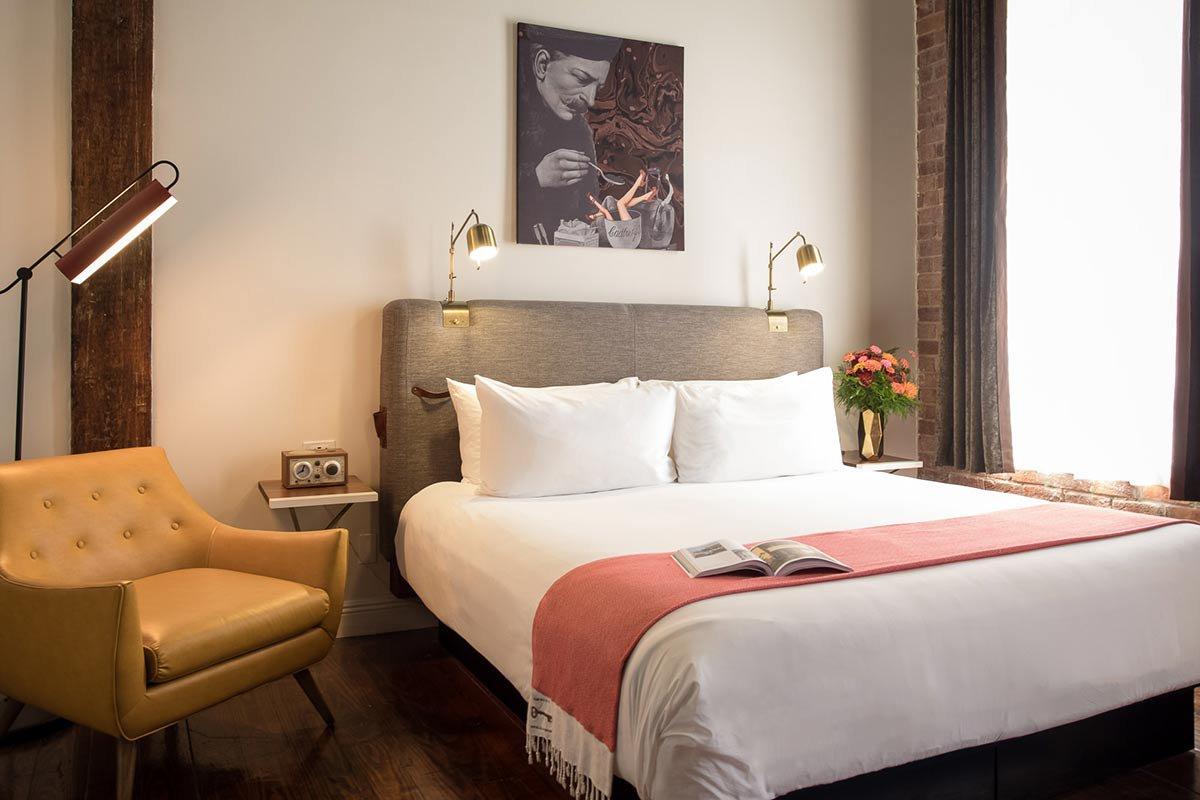 Premium king guest room.