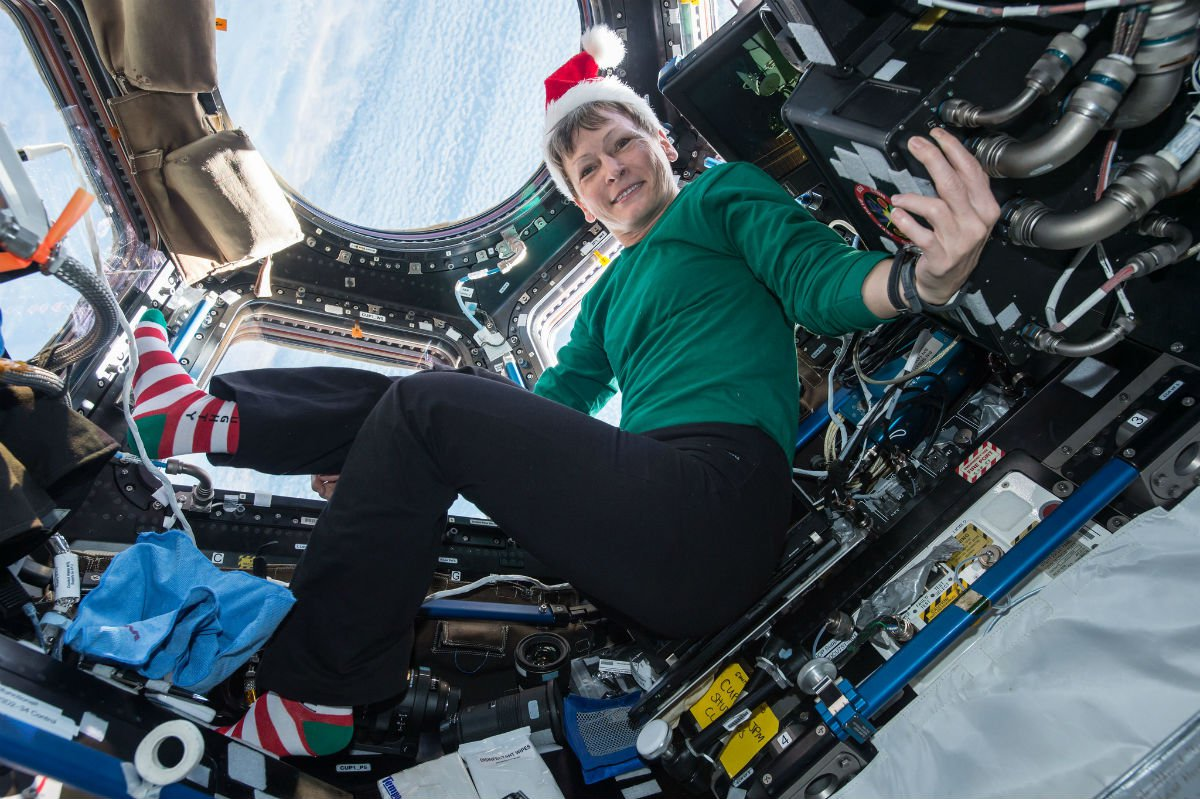 Peggy Whiteson in space.