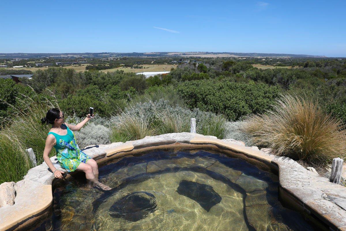 Peninsula Hot Springs, Melbourne, Victoria.