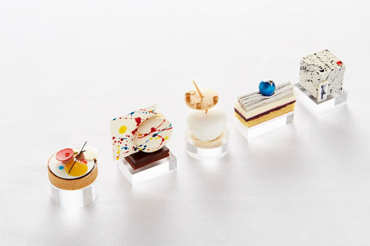 Five art inspired pastry's at Rosewood London.