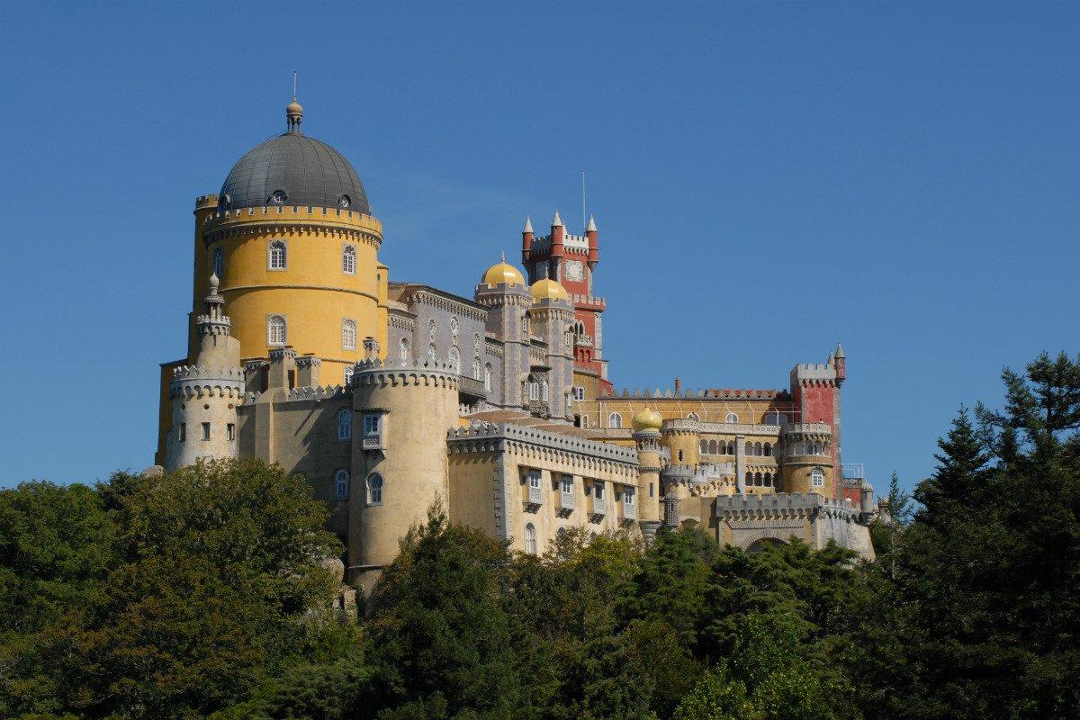 Sintra, Portugal, Castle.