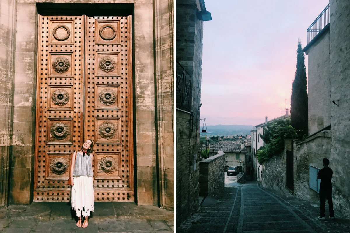 Florence (left) Montefalco (right)