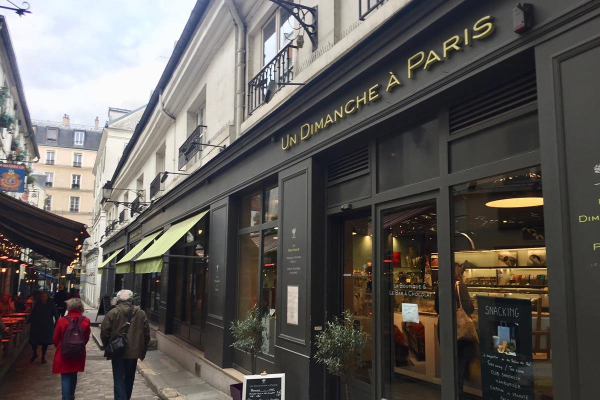 Un Dimanche a Paris chocolate store.