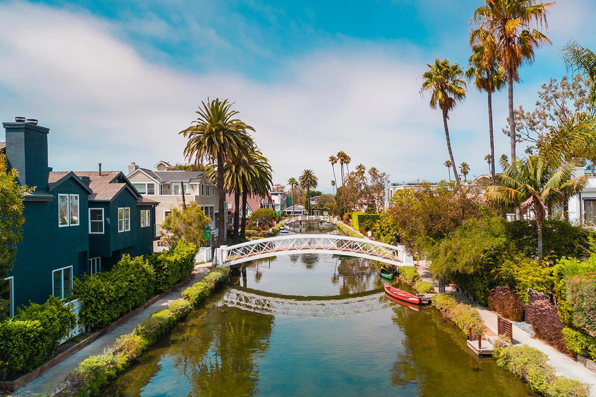 Venice canals, Los Angeles.