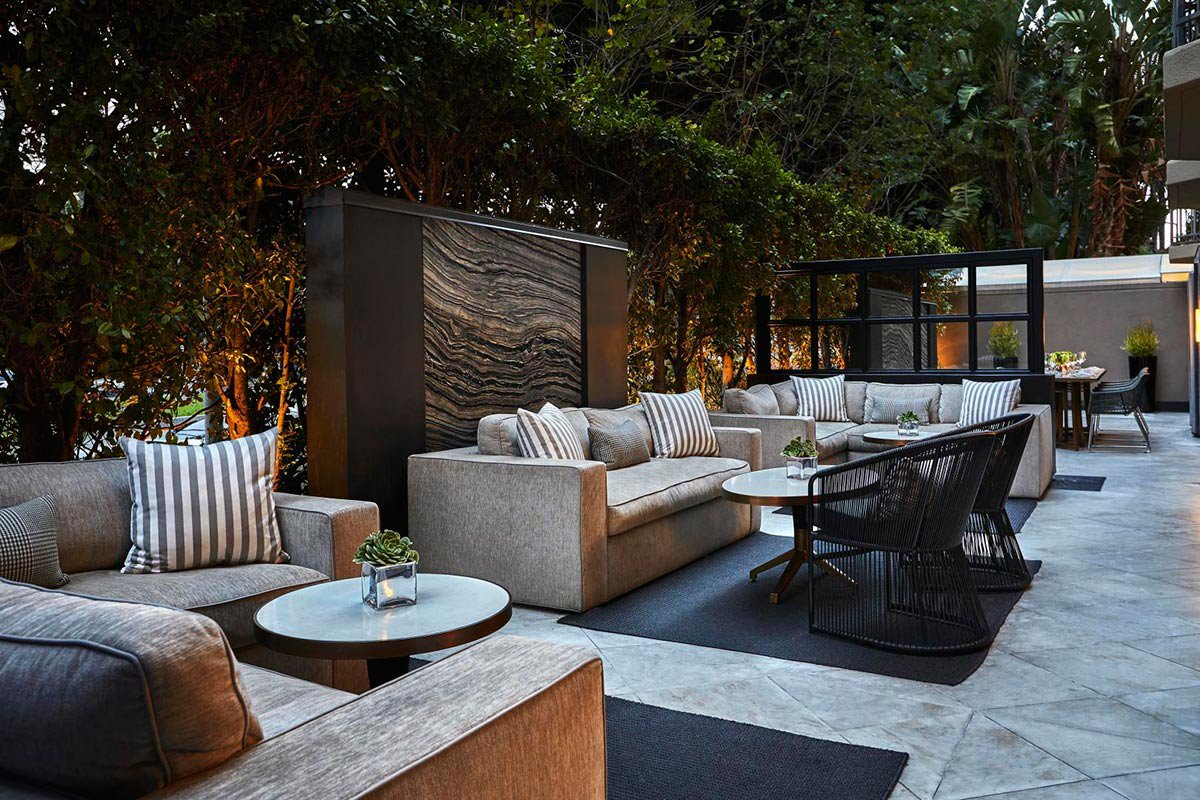 Outdoor lounge.