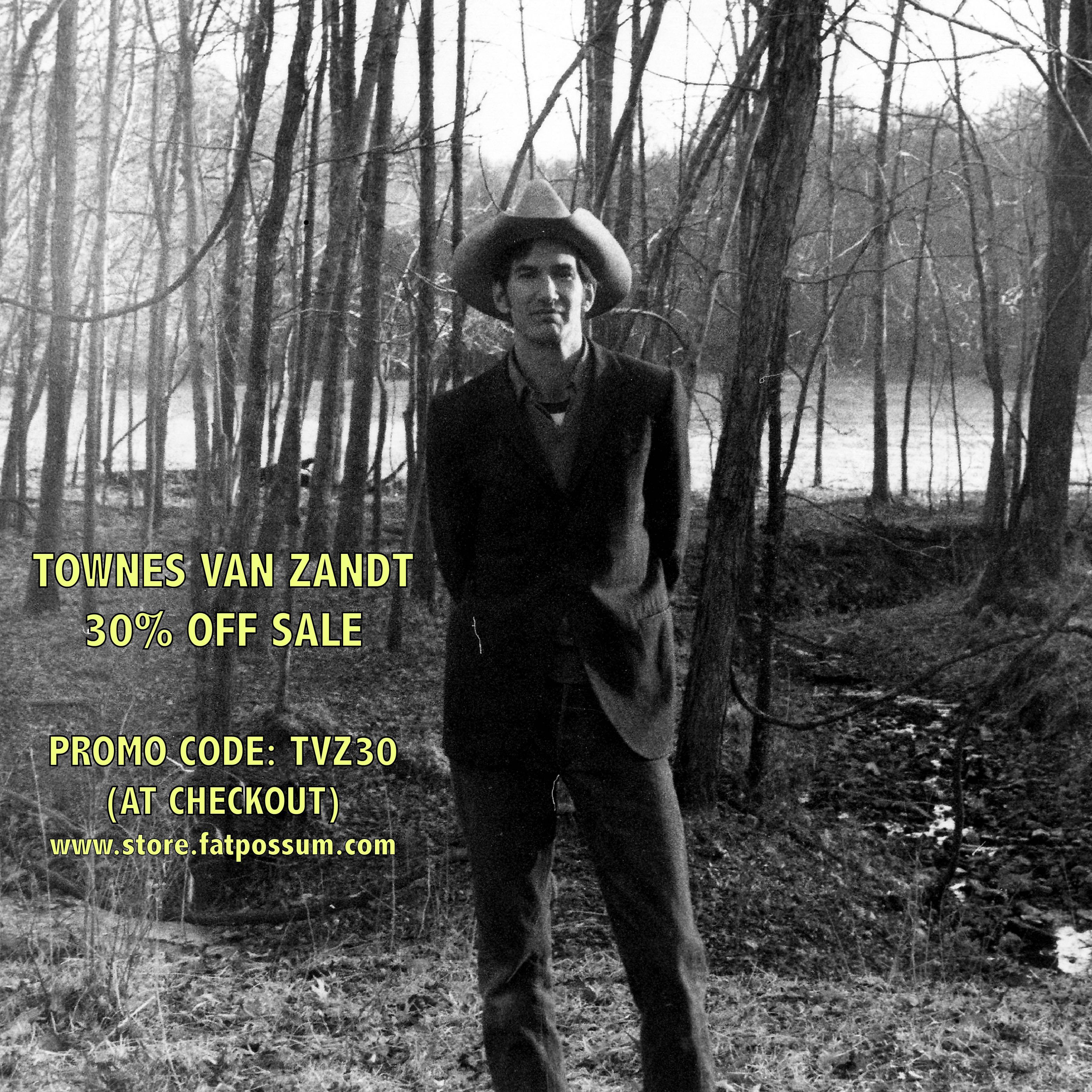 Townes Van Zandt 30 Off Sale Fat Possum Records