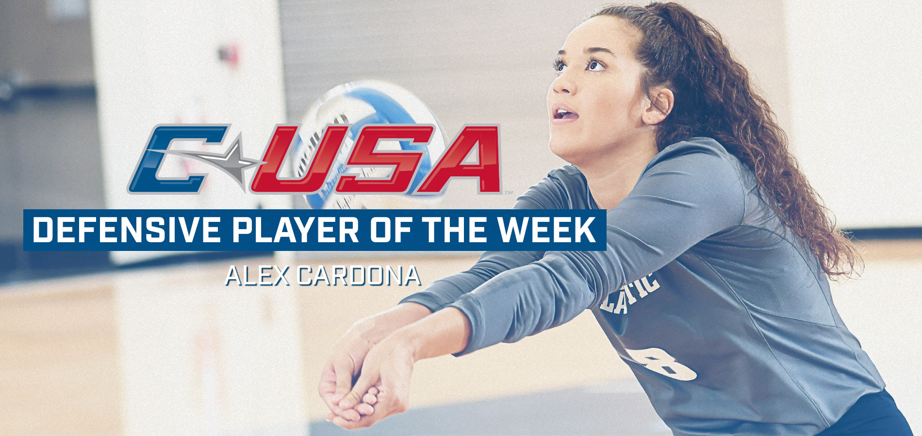 Alex Cardona was named C-USA Defensive Player of the Week.
