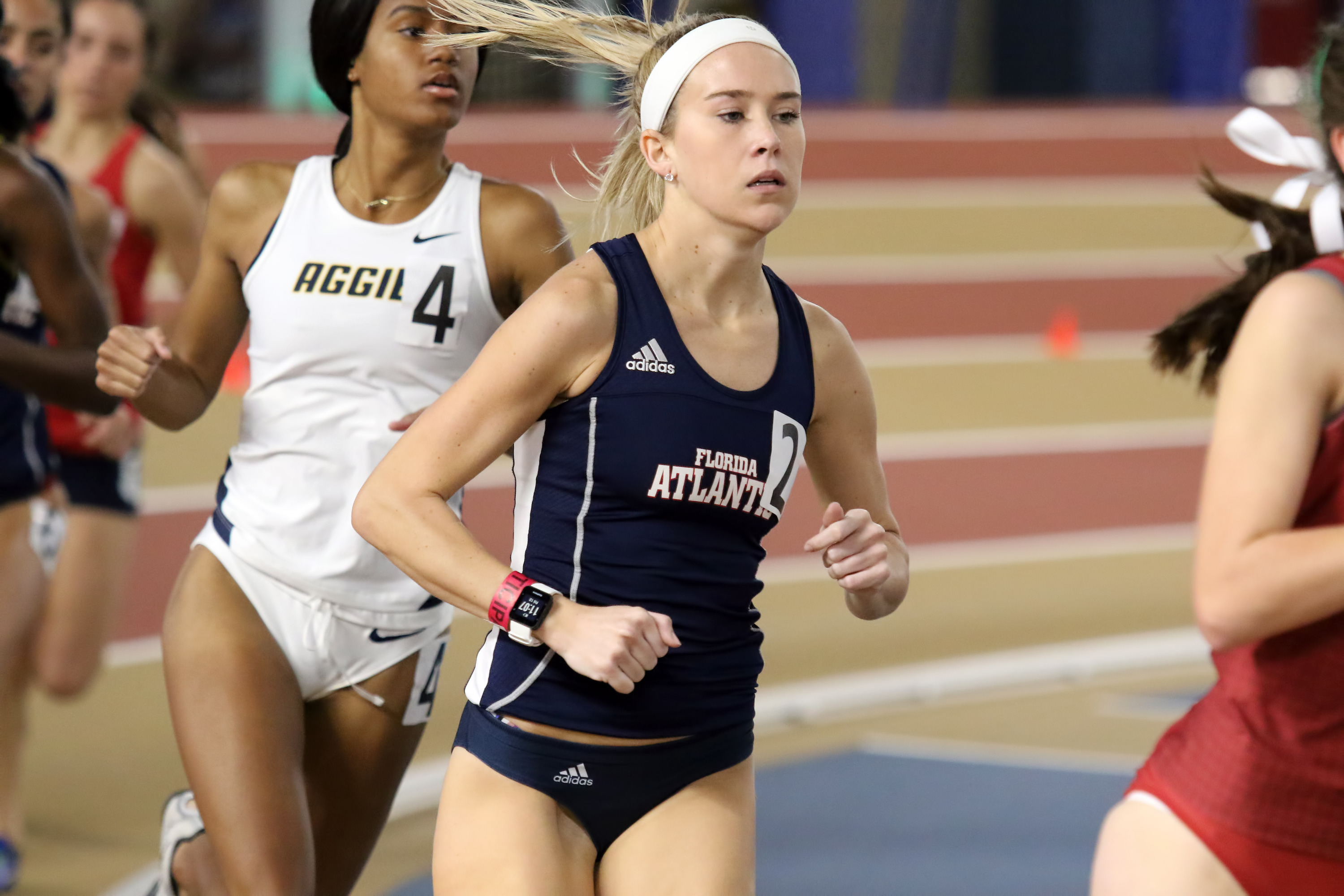 Erica Lersch ran a personal best in the mile on Friday.