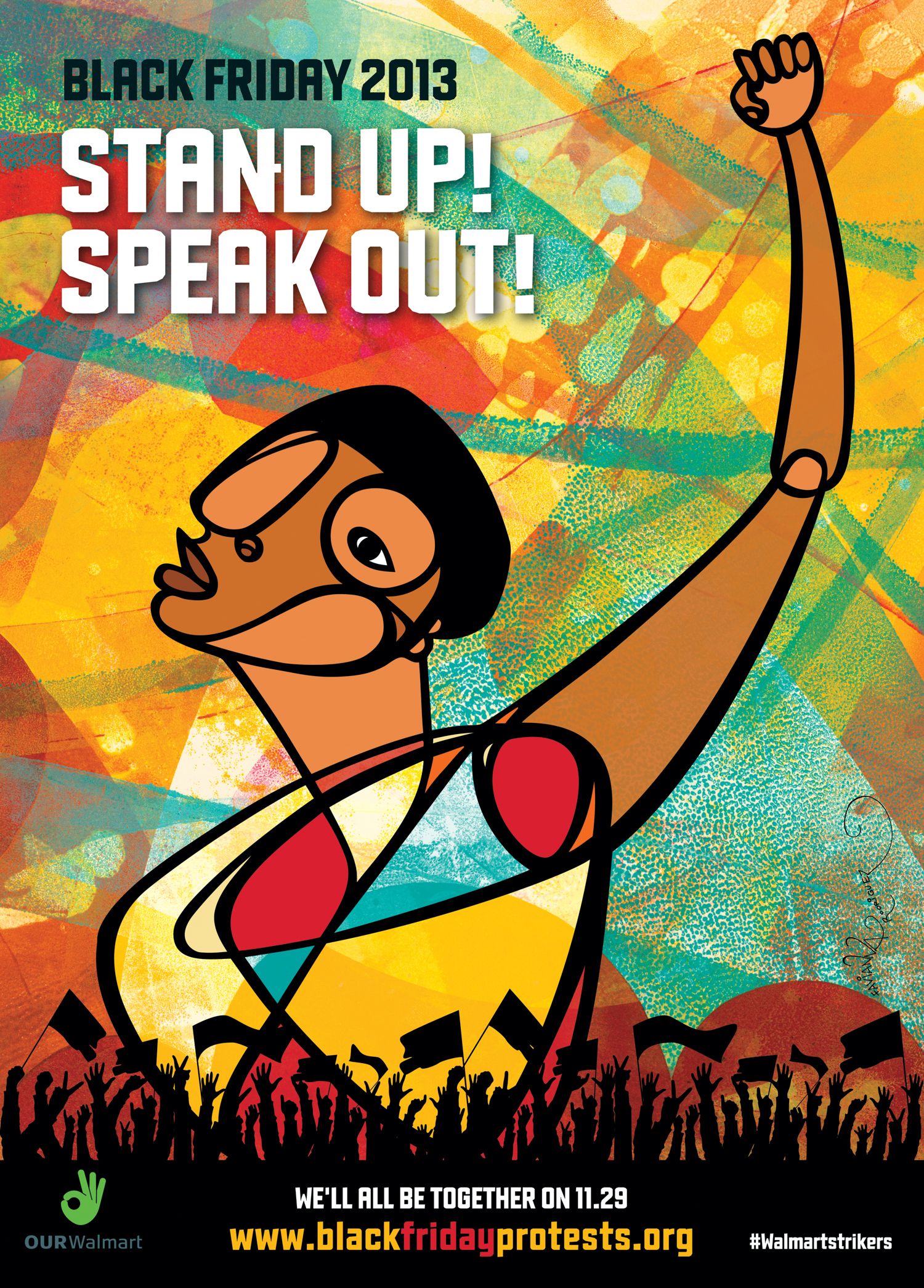 Stand Up Speak Out Black Friday 2013 Work Of Art By Favianna Rodriguez