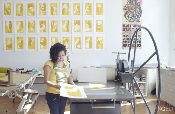 KQED: Printmaking with Favianna Rodriguez