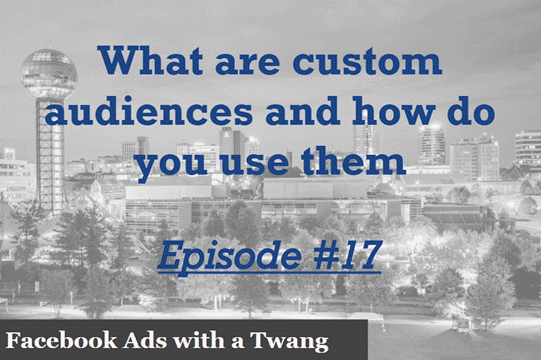 Episode #17 – What are custom audiences