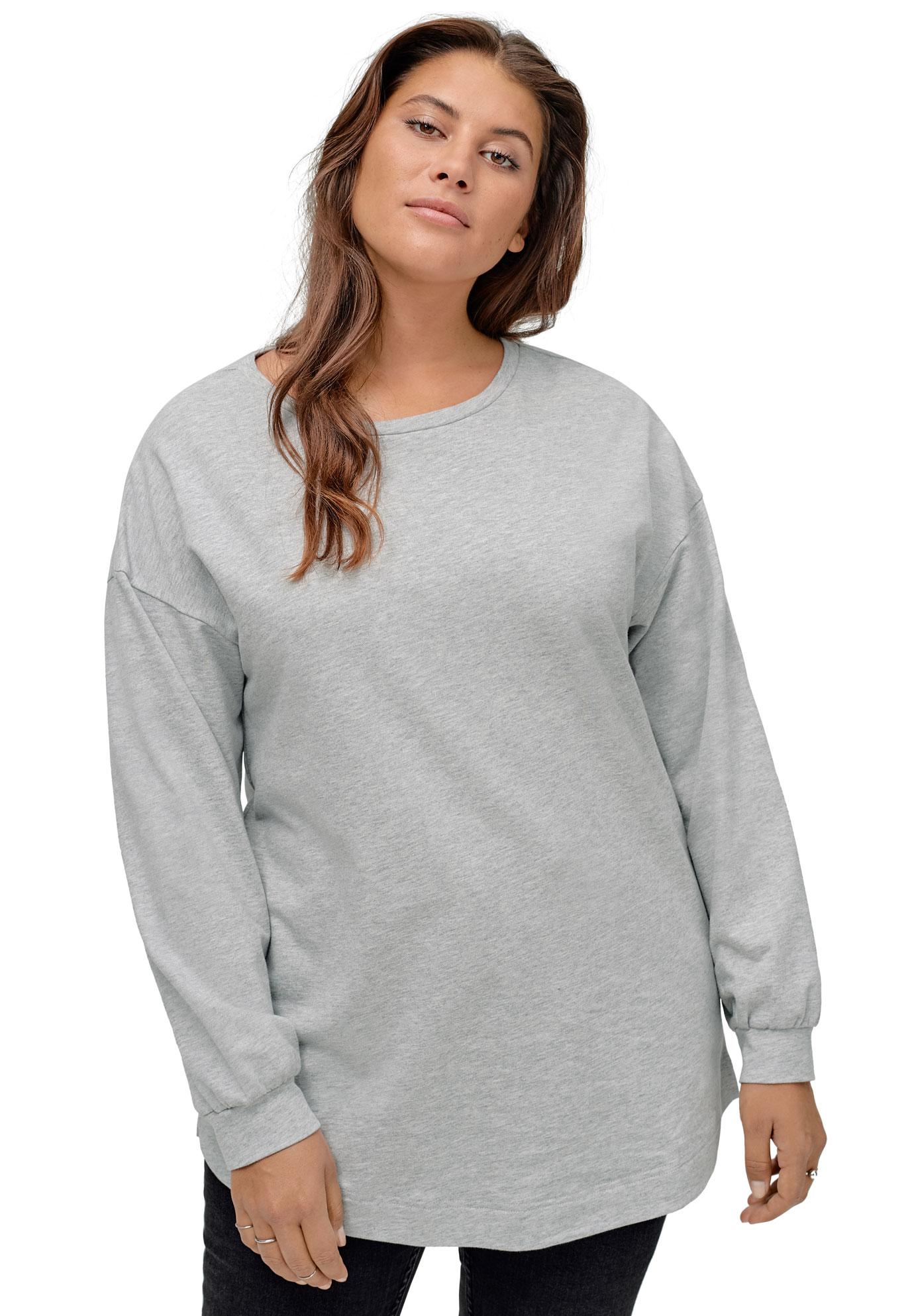 Hooded Sweatshirt Tunic Sweater