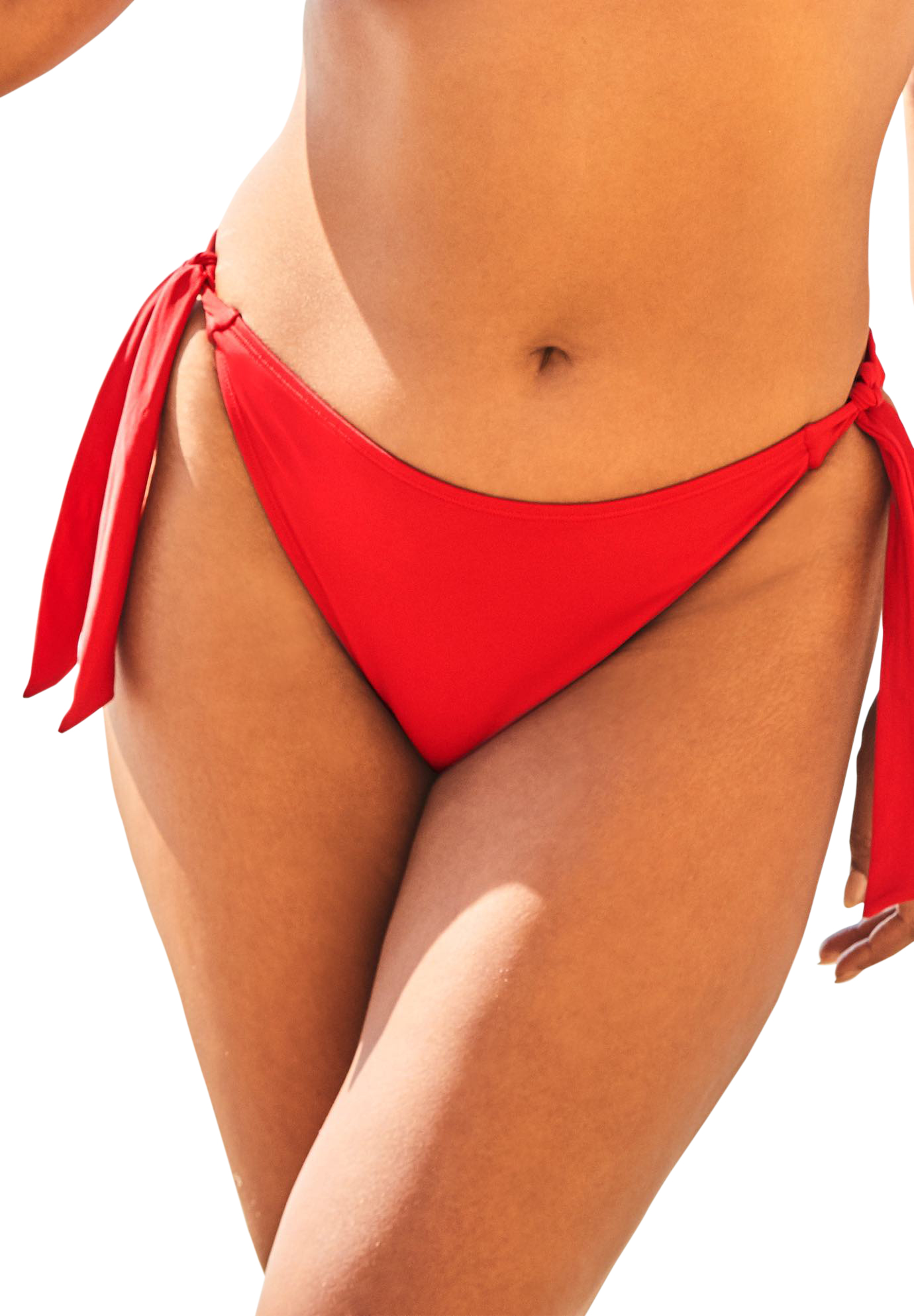 Plus Size Women's Ashley Graham Elite Bikini Bottom by Swimsuits For All in Lipstick Red