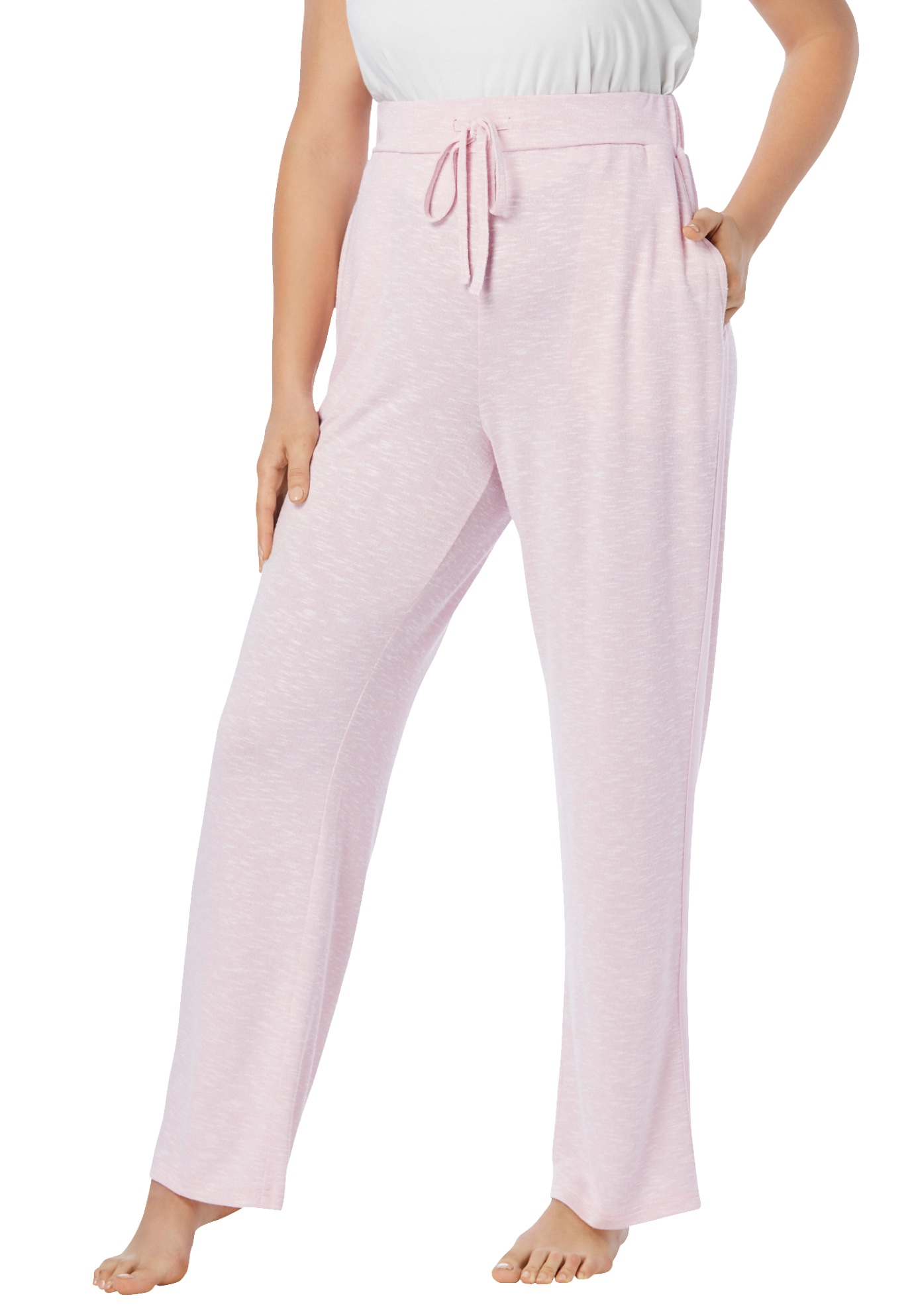 Plus Size Women's Supersoft Lounge Pant by Dreams & Co. in Pink Marled (Size 34/36)