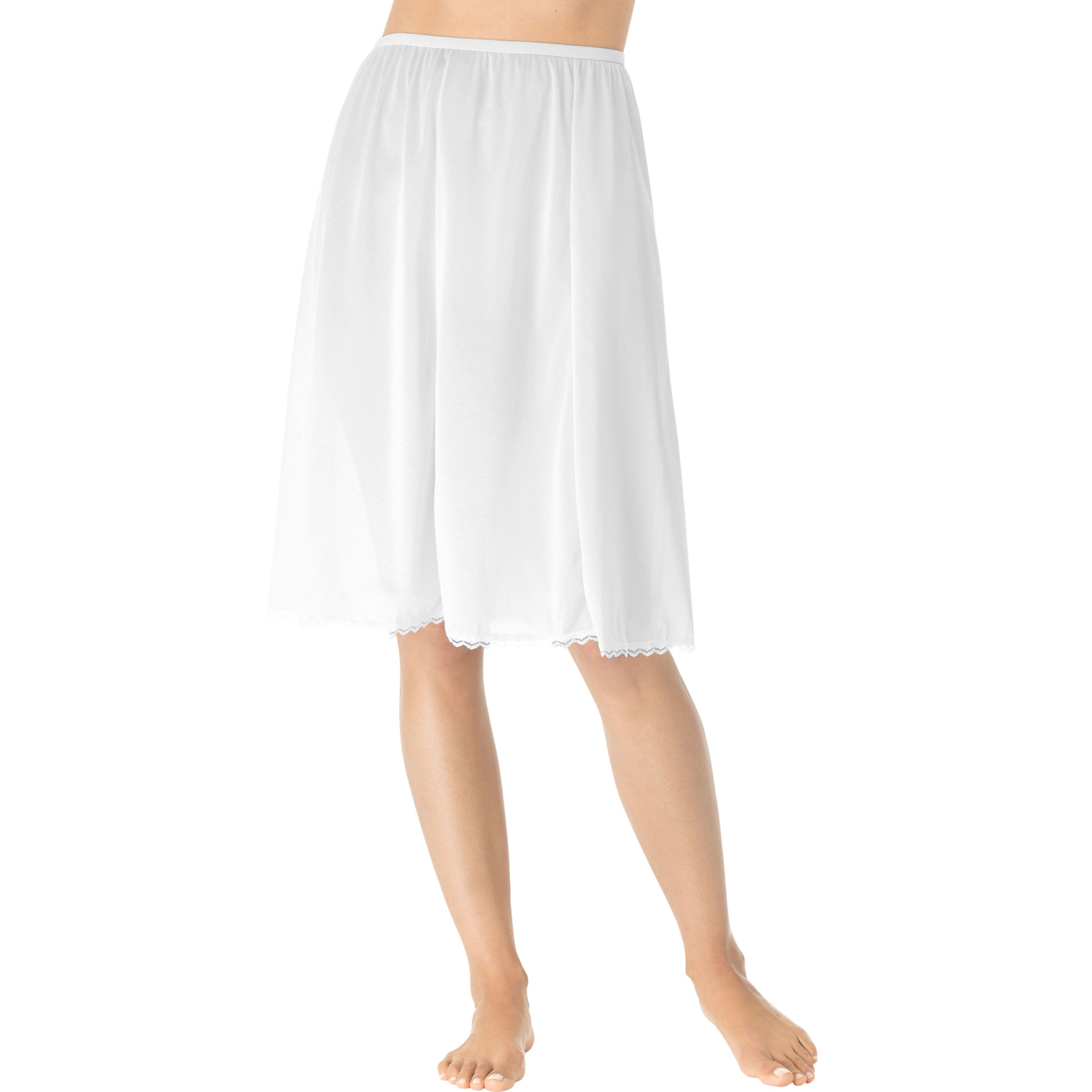 Swimsuitsforall.com coupon: Plus Size Women's 6-Panel Half Slip by Comfort Choice in White (Size 1X)