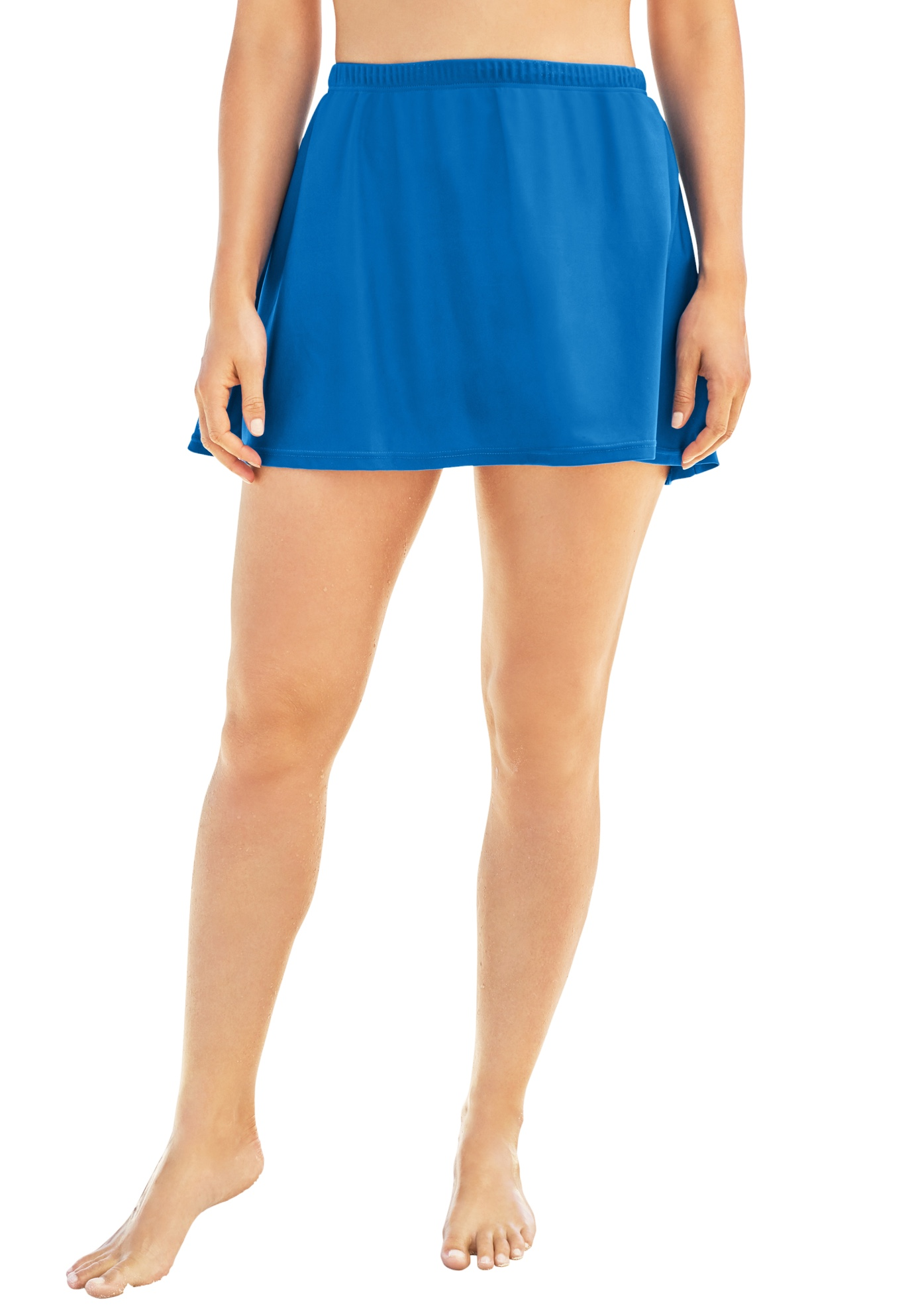 Plus Size Women's A-Line Swim Skirt with Built-In Brief by Swim 365 in Dream Blue