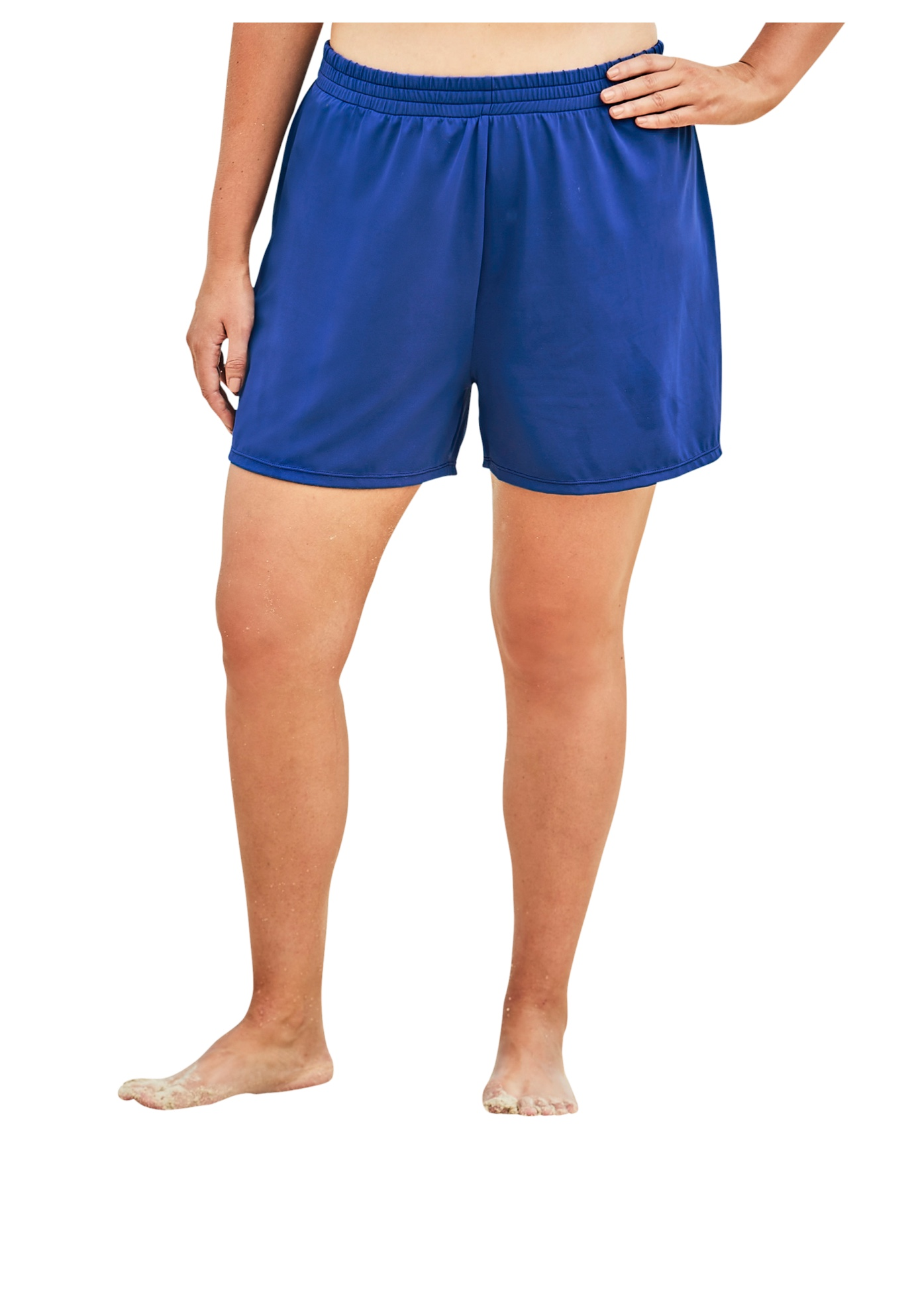 Plus Size Women's Boxer Swim Short by Swim 365 in Dream Blue