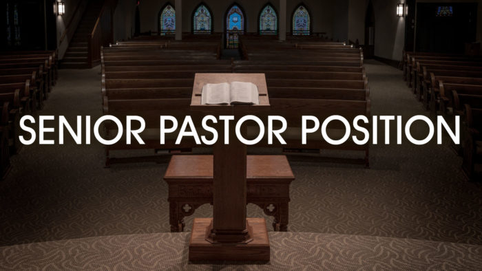 Senior Pastor Forwarding