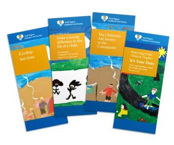 multilingual design system brochures nonprofit government childrens art work