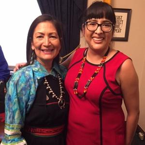 Rep. Deb Haaland (NM-01) with Lacina Tangnaqudo Onco