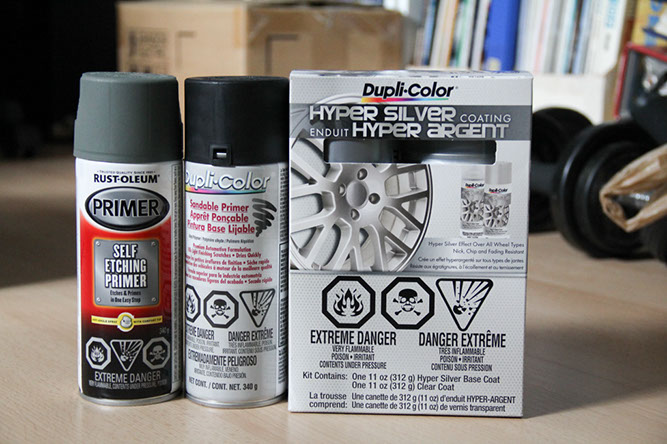 how to spray paint alloy wheels in hyper silver fcp euro. Black Bedroom Furniture Sets. Home Design Ideas