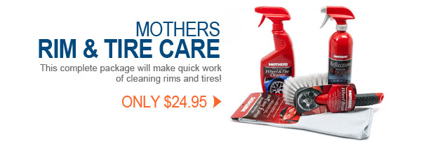 Mothers Rim and Tire Care Kit SHIPS FREE
