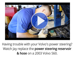 Volvo power steering reservoir and hose replacement video