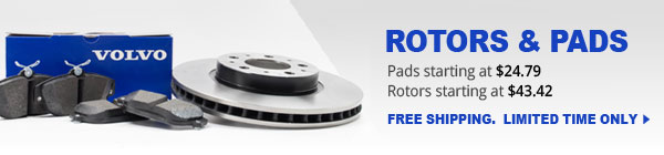 Genuine volvo rotors and pads ship free limited time only
