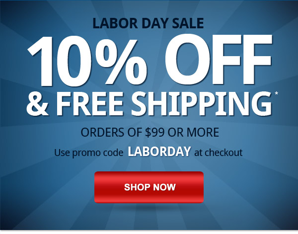 10% off and free shipping, 3 days only