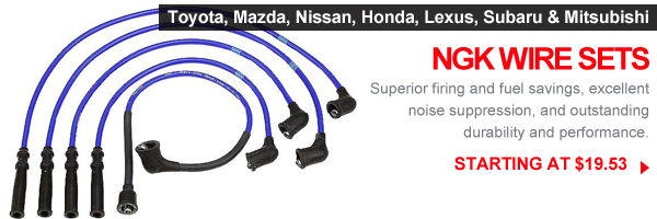 NGK wire sets available at FCP with free shipping over $25