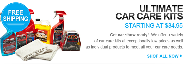 Car wash and detailing kits starting at $34.95 with free shipping