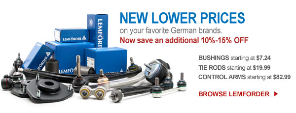 New low prices on all Lemforder parts