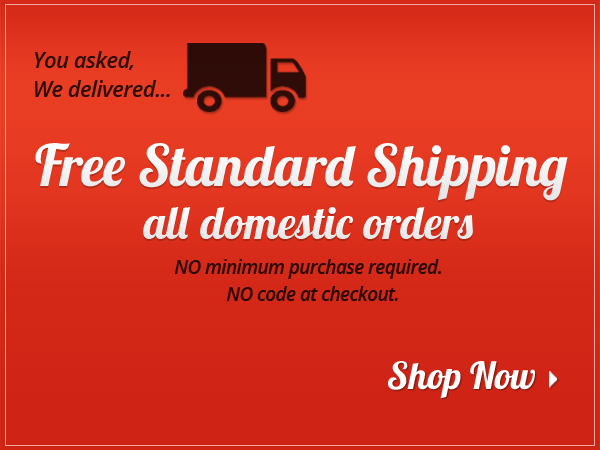 fcp now offering free shipping on all domestic orders