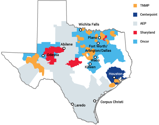 Areas We Serve in Texas