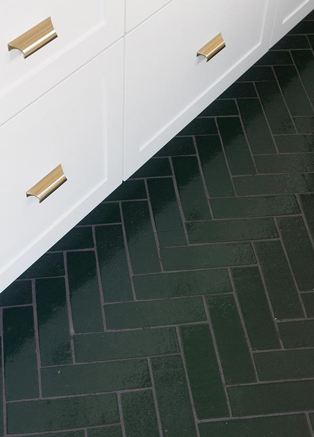 Glazed Brick Herringbone Floor Tiles Sarah Sherman Samuel