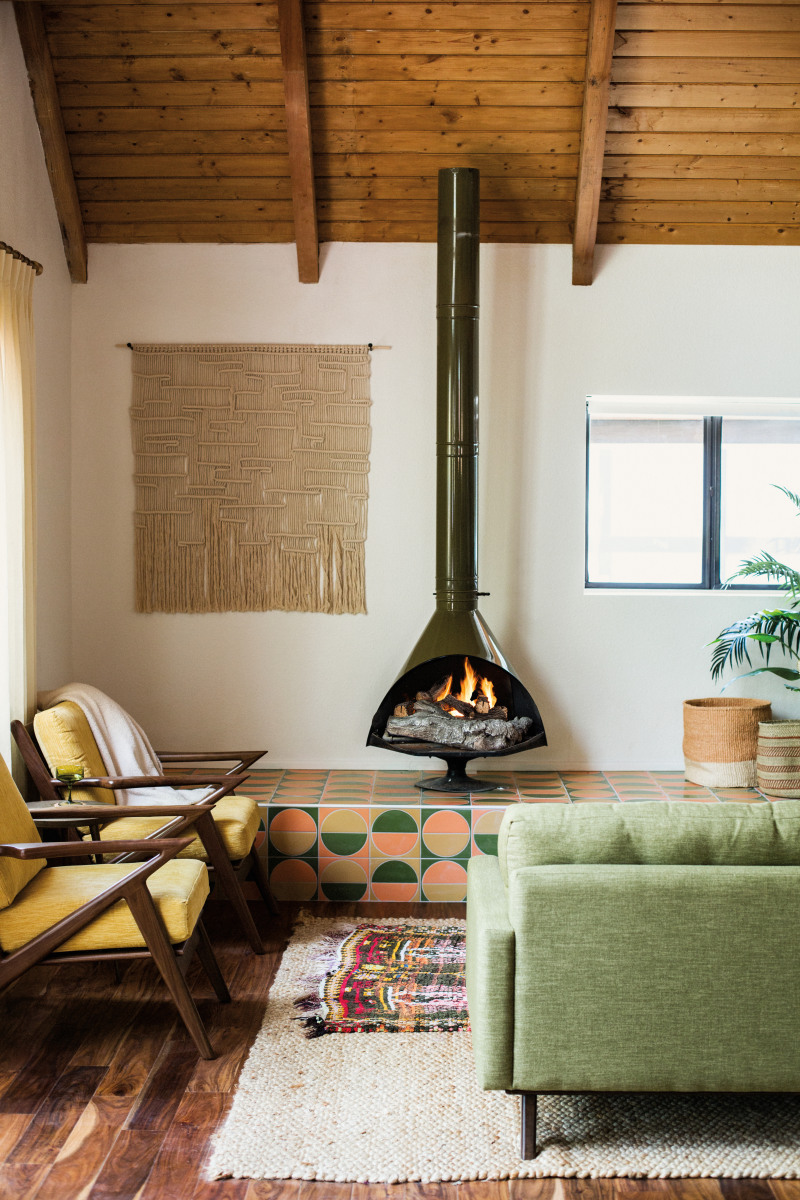Claire Thomas' fireplace surround shot for Domino's winter issue.