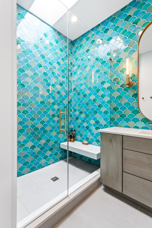 Fireclay Tile Mermaid Master Bath