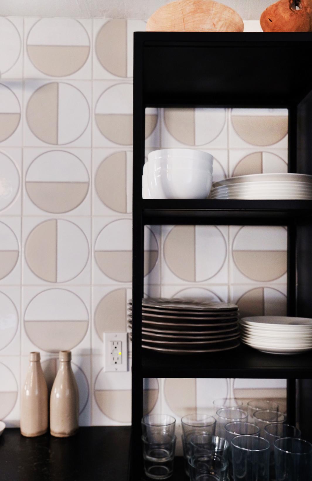 Handpainted Harvest tiles in White Motif