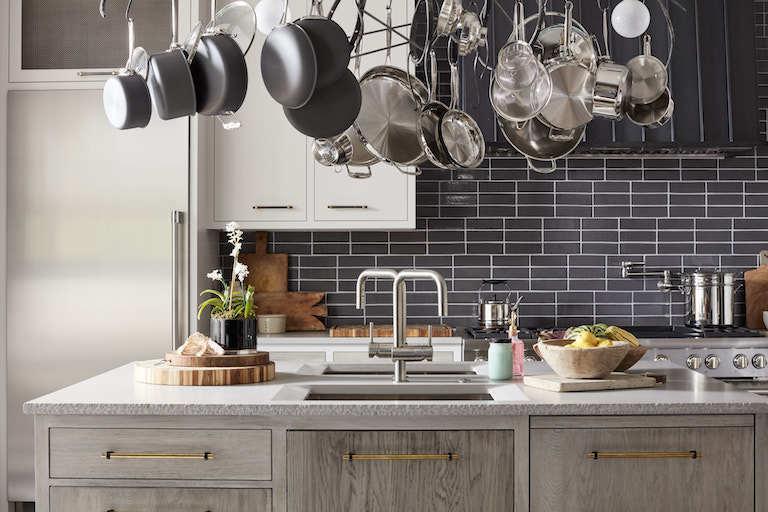 House Beautiful Brick Tile Kitchen Backsplash
