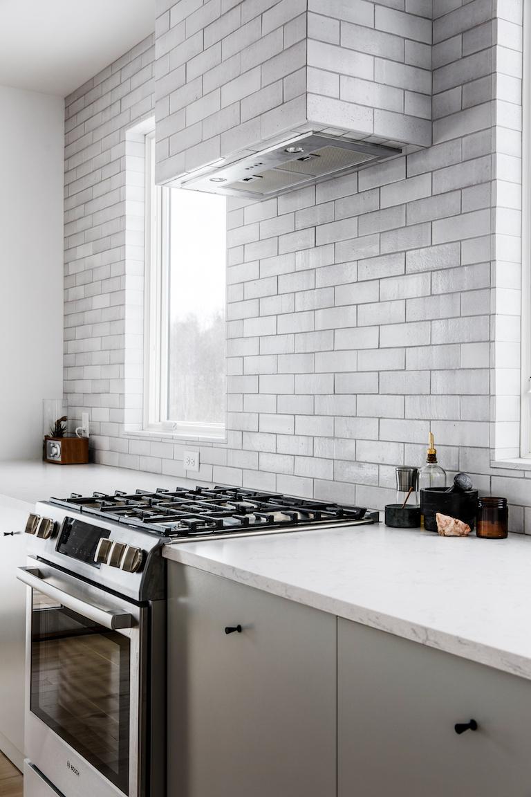 Brick Kitchen Backsplash