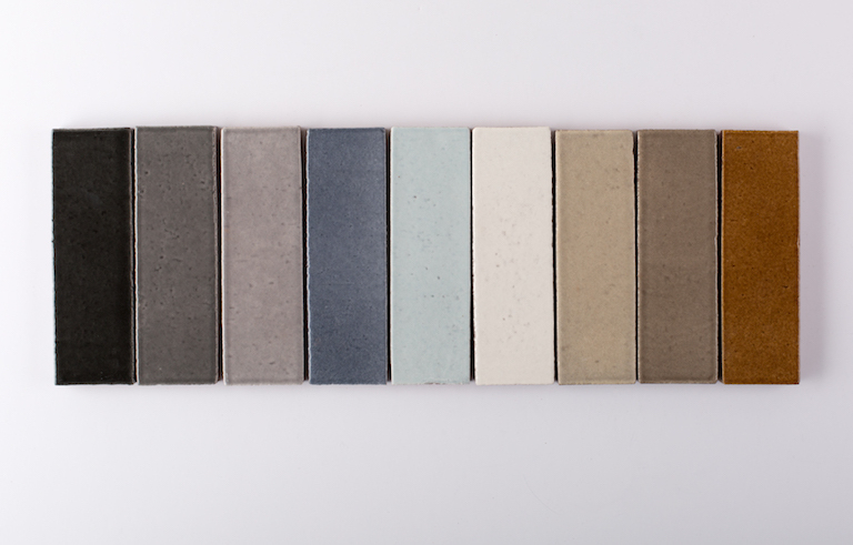 Fireclay Glazed Brick Tile Colors with Engobe Gloss Finish