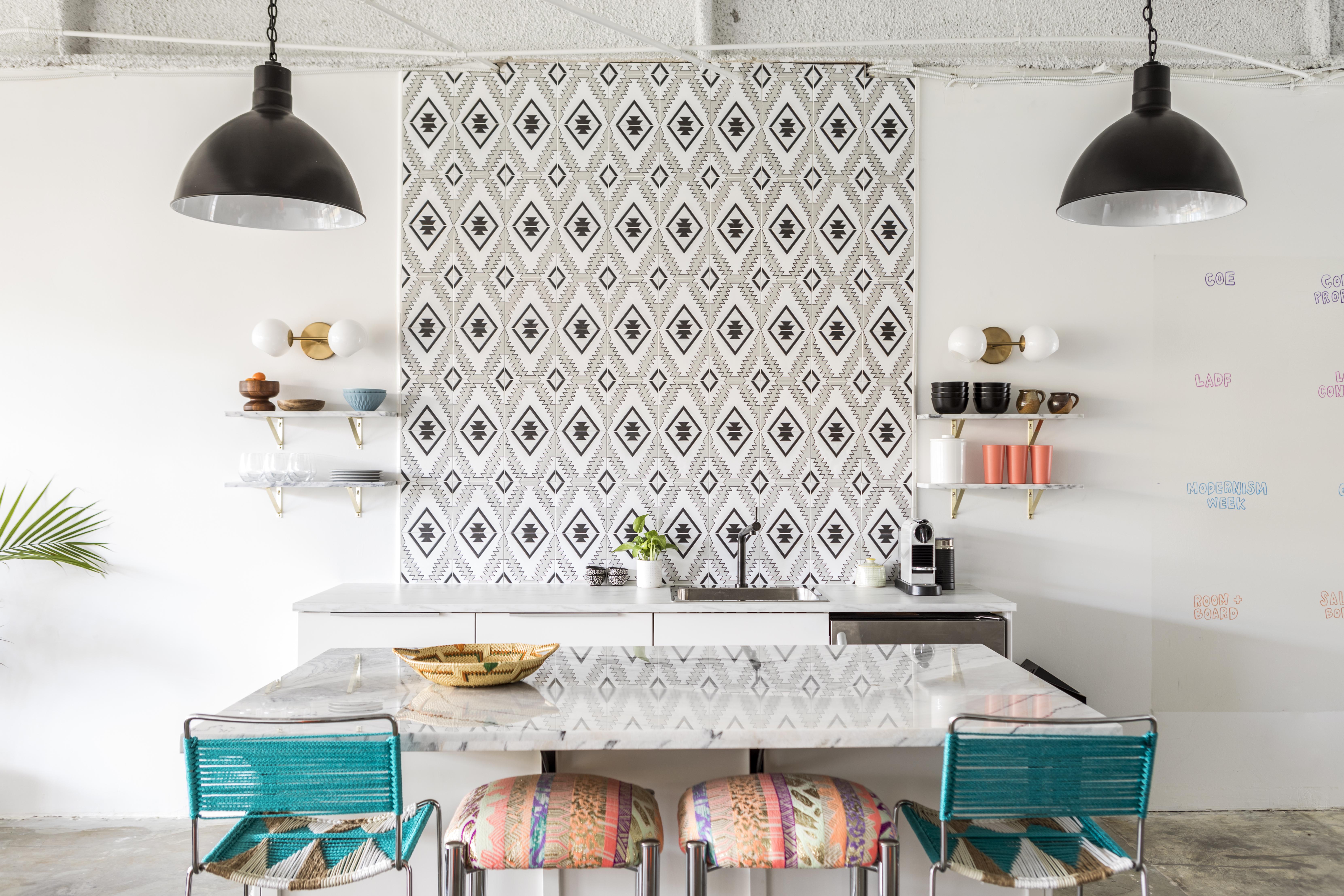 Secret Agent PR's office kitchen designed by Kirsten Grove