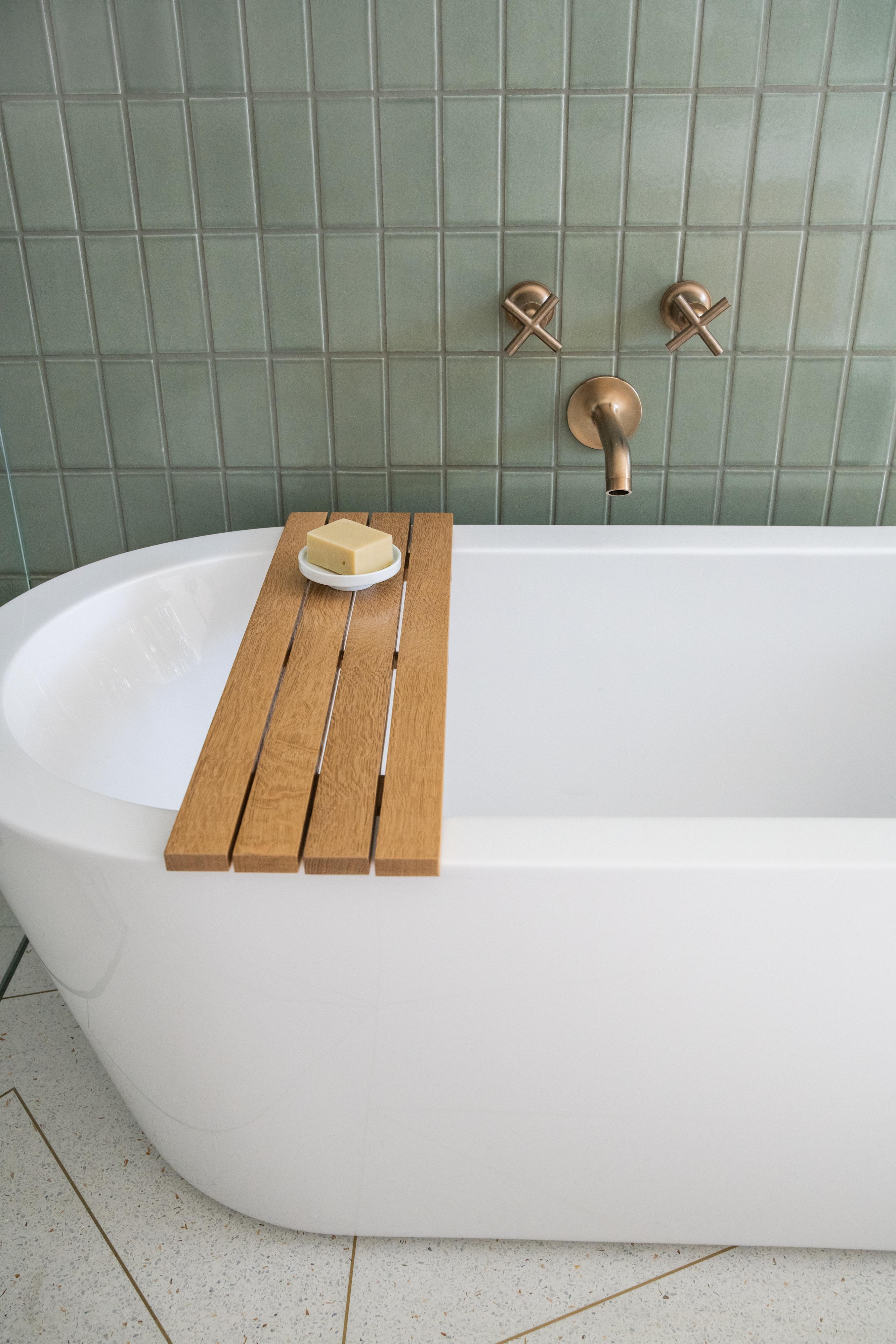 Mandy Moore's Fireclay Rosemary Bathroom
