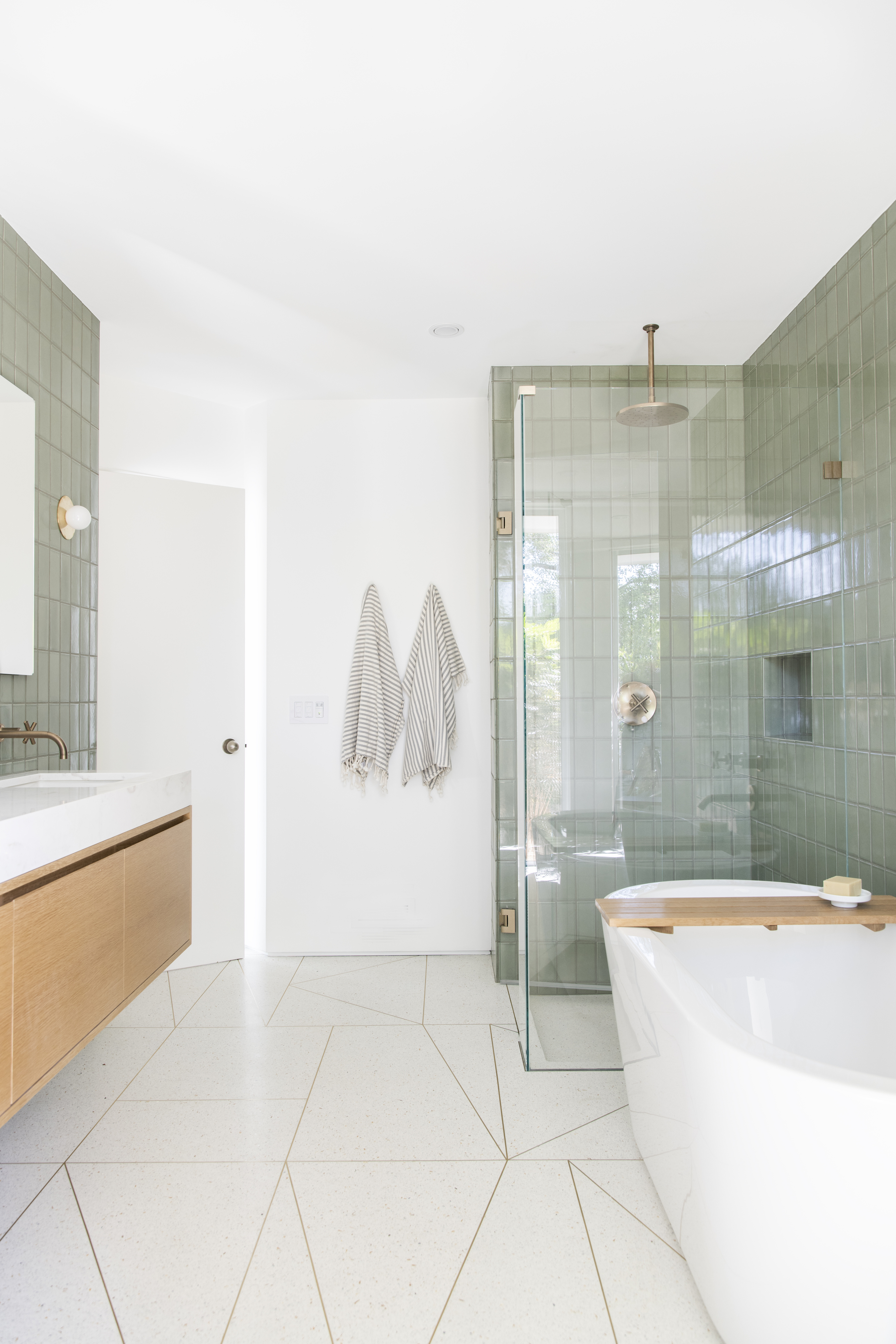 tile school: bathroom wall tile height, how high… | fireclay tile